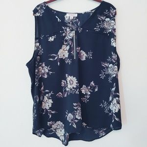 Tempted Los Angeles Black Floral Top Size 3X
